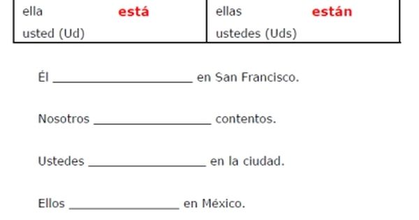 estar worksheets free printable introduction to the spanish verb estar to be worksheet. Black Bedroom Furniture Sets. Home Design Ideas
