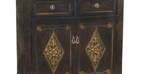 Medecci Wood Cabinet -HSN.com.