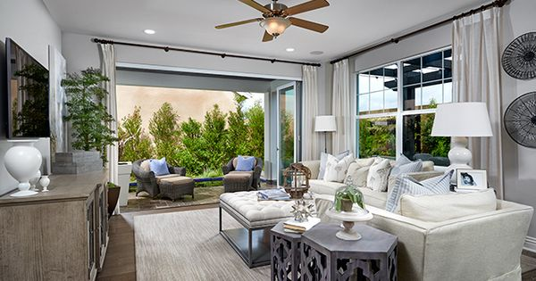 This Irvine Ca Living Room Boasts Multi Slide Patio