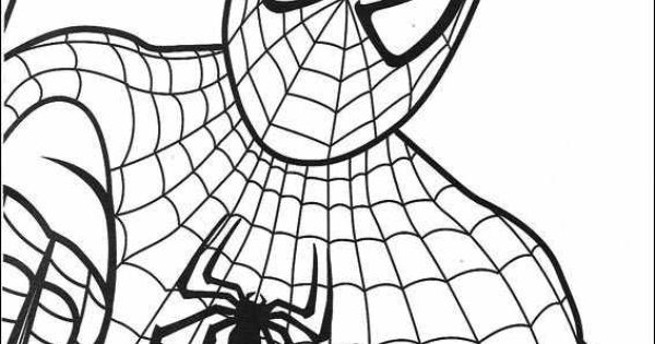 standing spiderman coloring pages | Spiderman 012 coloring page | Spider Man Party | Pinterest ...
