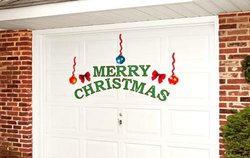 Christmas garage door decor ideas christmas pins for Christmas garage door mural
