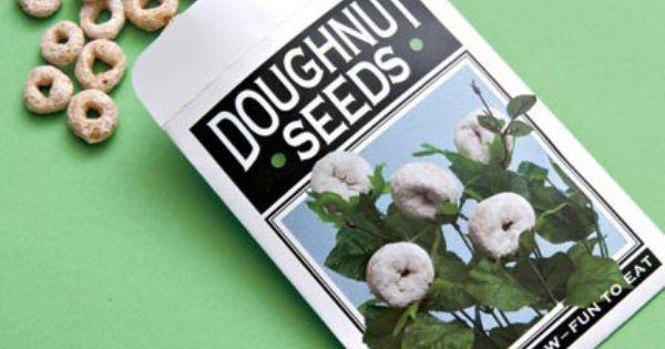 Gag Gift - Doughnut Seed Packet