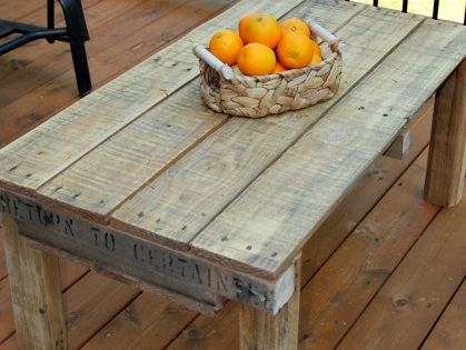 Make Your Own Pallet Coffee Table Life Sanity Diy