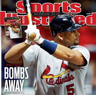 Show Details For Bombs Away Albert Pujols Of The St Lous Cardinals In 2020 St Louis Cardinals Baseball Sports Illustrated Covers St Louis Baseball