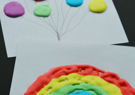 how to make puffy paint puff up