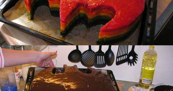 Rainbow batman cake lol found my birthday cake!