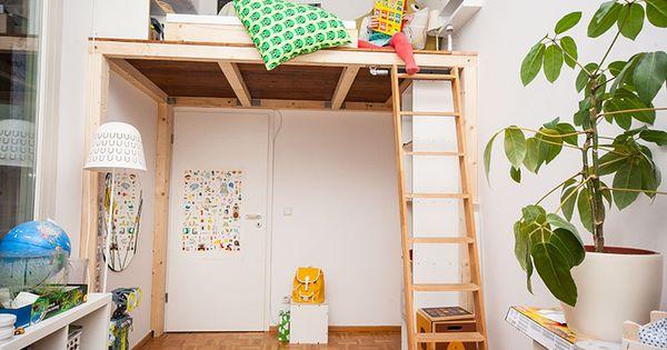 ein hochbett selber bauen diy anleitung hochbett selber bauen hochbetten und selber bauen. Black Bedroom Furniture Sets. Home Design Ideas
