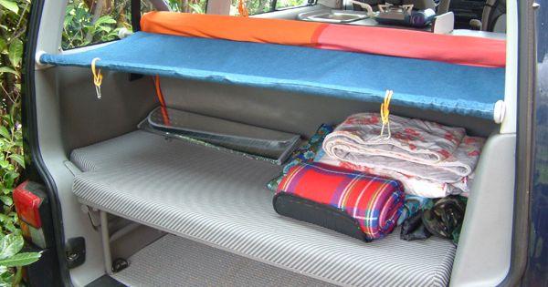 banquette lit enfant arri re sans modif du fourgon vw bus pinterest camping and van life. Black Bedroom Furniture Sets. Home Design Ideas