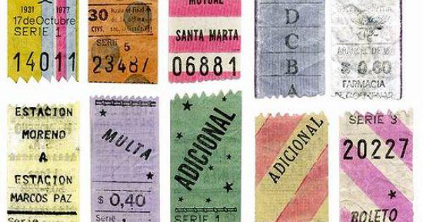boletas vintage type & color