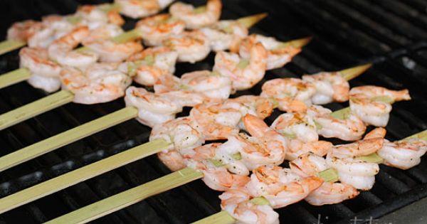 Bangin' Grilled Shrimp Skewers   Recipe   Grilled Shrimp Skewers ...