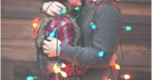 couples first christmas photo idea
