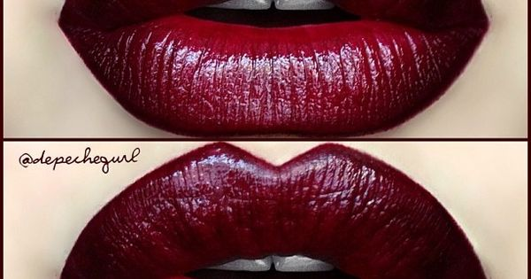 "Urban Decay ""Shame"" Lipstick, MAC ""Vino"" Lipliner, & NYX Black Gel Liner"