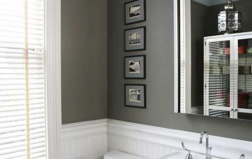 powder room- I like the wall color