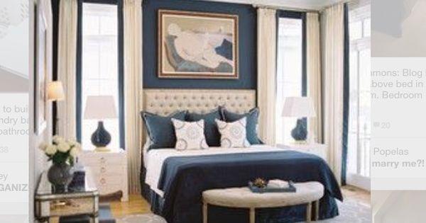 Navy bedroom  Bedrooms  Pinterest  침실, 집 및 스케치