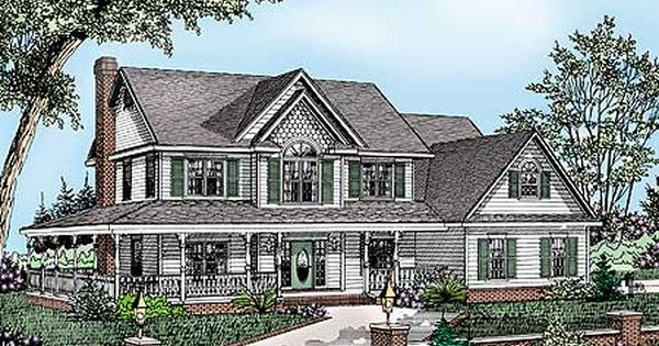plan 6541rf wrap around porch porch house and walkout
