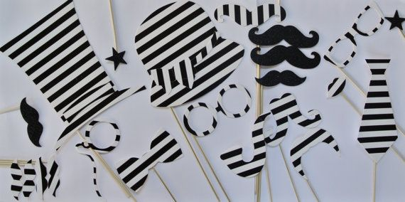 Black White Wedding Photobooth Accessories By Weddingphotobooth On Etsy Photo Booth Party Props Party Photo Booth Wedding Photo Booth