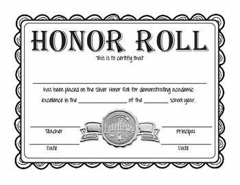 Free Printable Honor Roll Certificates Honor Roll Free