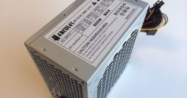 Brand New--Lead Power Black 650w-MAX ATX Power Supply 12cm-Fan 20+4Pin SATA PCIe