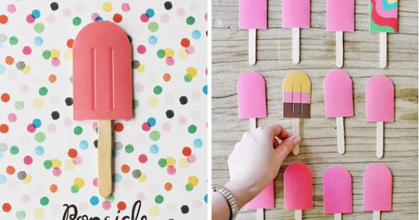 DIY Paper Popsicle Memory Game Merrymaker Fine Paper | Stationery | stationery