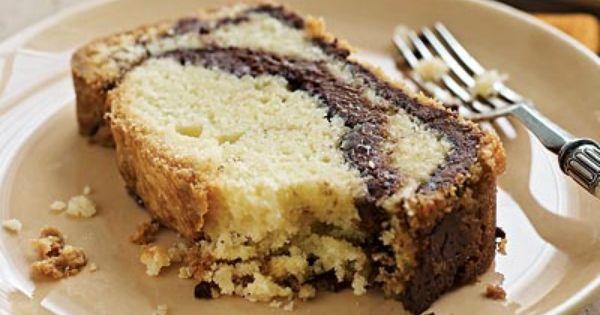 Mmm... sweet and simple! // Nutella-Swirl Pound Cake dessert hazelnut chocolate