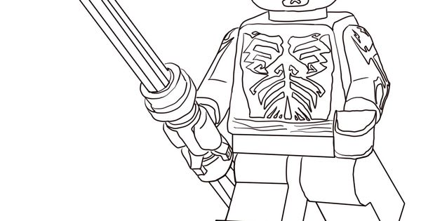 lego darth maul coloring page | Star Wars Party ...