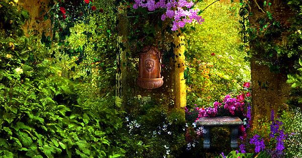Beautiful Garden Entry, Provence, France