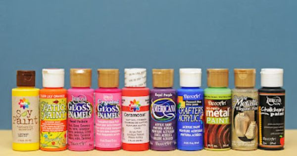 Acrylic paints which one should i use crafting 101 for Using acrylic paints