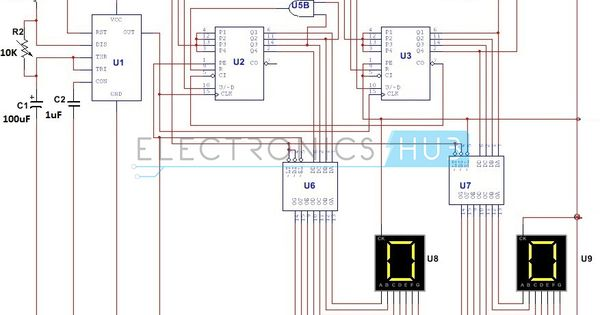Simple Digital Stopwatch Circuit Working And Applications Best Kids Watches Circuit Electronics Circuit