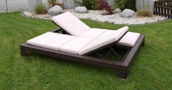 Exclusive Doppel Liege Viareggio Stahl Polyrattan Braun Incl Auflagen Gartenmoebel Einkauf Mit Bildern Gartenliege Gartenliege Polyrattan Sonnenliege