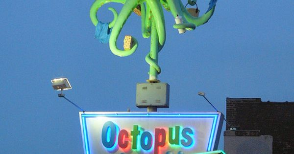 Octopus Car Wash Madison: Octopus Car Wash Neon Sign..each Tentacle Has Another