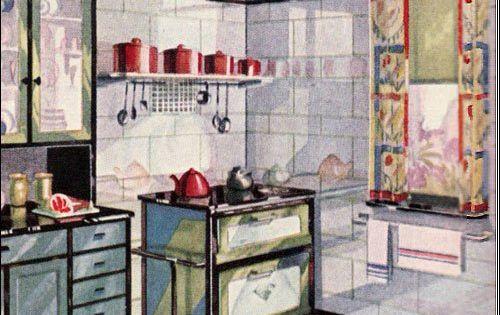 Page09 jaren 20 jaren 30 woning tegels badkamers gang keuken - Onderwerp deco design keuken ...