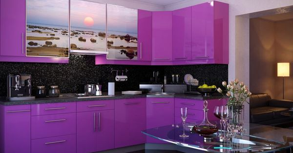 Awesome Kitchen Cabinets Exclusive Purple Sx Print Tile Backsplash Small Listed In Purple Kitchen Rugs Black