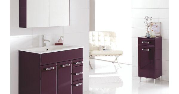 meuble de salle de bains opale aubergine salle de bains magasin leroy merlin gu rande. Black Bedroom Furniture Sets. Home Design Ideas