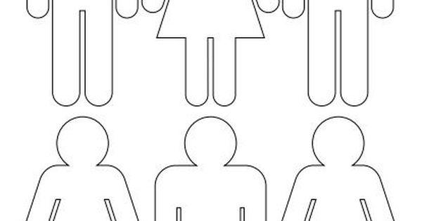 Imagen De Una Silueta De Una Mujer Para Colorear: Silueta De Personas Para Recortar