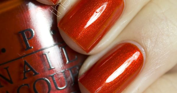 opi glittery burnt orange nail polish   u0026quot  o