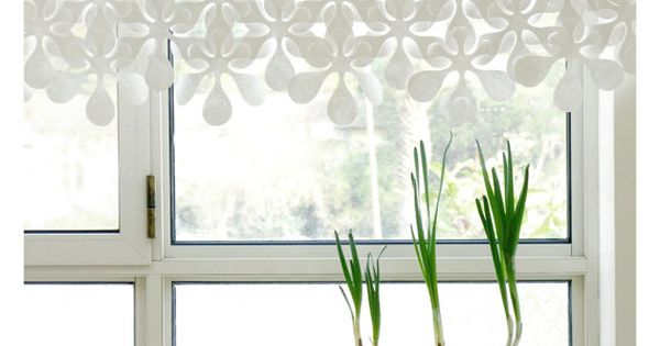 Floral Paper Curtain Room Divider Window Covering