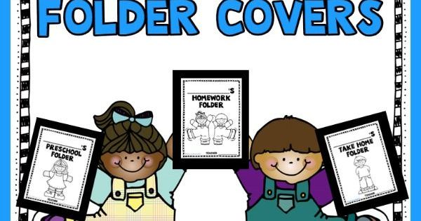 Free Editable Homework Folder Covers For Preschool And