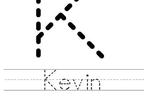 Kevin Worksheet - Cursive - Twisty Noodle | special ...