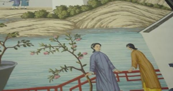 Chinese Wallpaper Reproduction From Winterthur Scenic