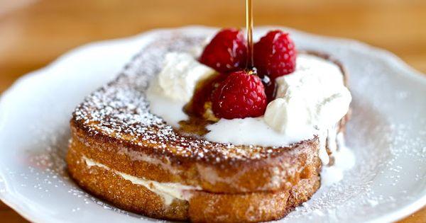 Raspberry Cheesecake Stuffed French Toast   French, Raspberry ...