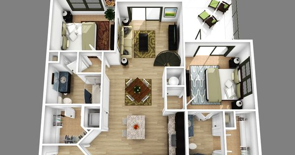 3d 2 bedroom apartment floor plans - Yahoo Image Search ... - photo#40