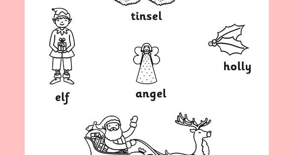 primary resources christmas coloring pages - photo#14
