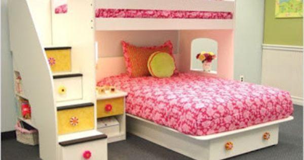 10 ideas dormitorios compartidos para dos ni as - Dormitorios infantiles nina ...