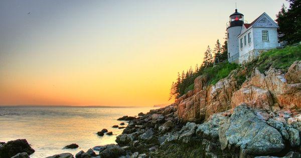 Maine Lighthouse, near Acadia National Park on Mount Desert Island