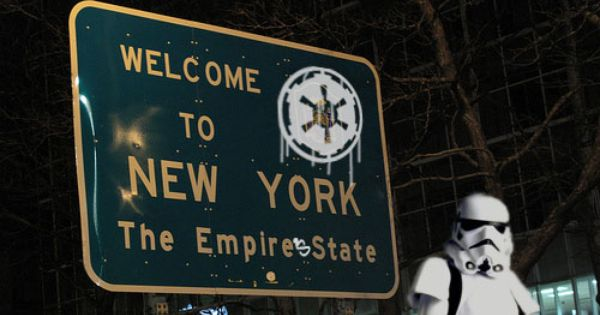 Funny Sign: NY: The Empire's State--lol