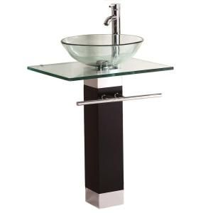 Kokols Pedestal Combo Bathroom Sink In Clear Wf 09 At The Home