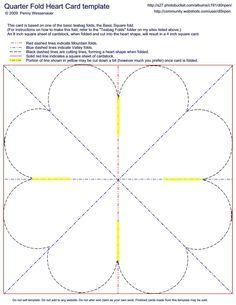 Quarter Fold Heart Card Template Fancy Fold Cards Fun Fold Cards Heart Cards