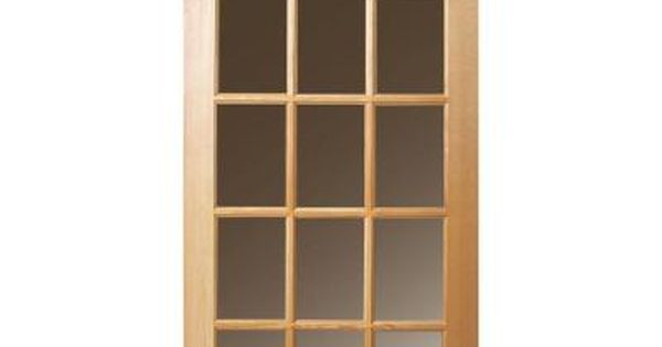 Masonite 30 In X 80 In 15 Lite Unfinished Fir Front Exterior Door Slab 87933