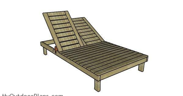 Double lounger plans outdoor furniture plans pinterest for Chaise longue plans