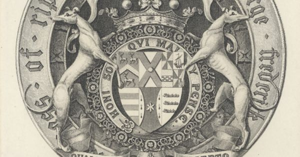 Armorial bookplate george frederick heraldry for Empire tattoo blackwood